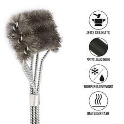 """BBQ Cleaning Grill Brush 18"""" Barbecue Cleaner Stainless Stee"""