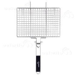 BBQ Grill Basket Foldable Barbecue Fish Vegetable Stainless