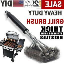 BBQ Grill Brush Scrubber Barbecue Cleaning Tool Stainless St