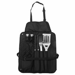 BBQ Grill Utensils Cooking Set Spatula Tong Fork Apron Glove