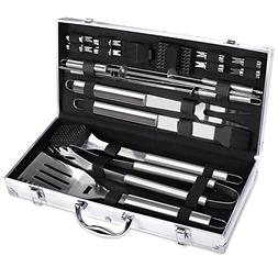 FYLINA BBQ Grilling Set 21-Piece Upgraded Stainless Steel Ut