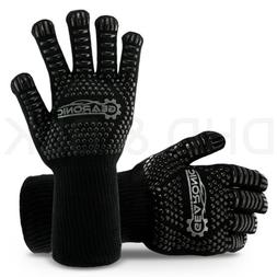 BBQ Kitchen Long Large Heat Resistant Grill Gloves Silicone