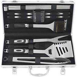 POLIGO 19PCS BBQ Tool Set with Gift Box - Heavy Duty Stainle