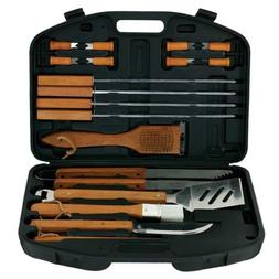 18 Piece BBQ Tool Set With Plastic Case