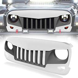IBACP Black&White Front Eagle Eye Grille Grid Grill with Bui
