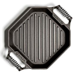 """Finex Cast Iron 12"""" Cooking Grill Pan NEW"""