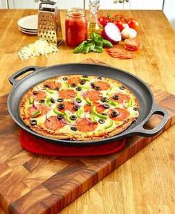 Cast Iron Pizza Pan Crisp Crust and Gooey, Melted Cheese Sto