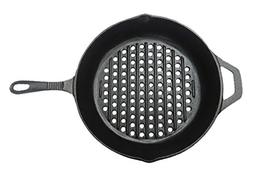 Mr. Bar-B-Q Cast Iron Skillet with Holes for Searing