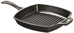 Lodge Cast Iron Square Grill Pan Frying Griddle Nonstick Ski
