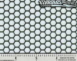 """CCG 16""""x48"""" Perforated Hex Grill Mesh Sheet - Gloss Black"""