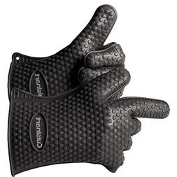 Cuisinart CGM-520 Heat Resistant Silicone Gloves, Black