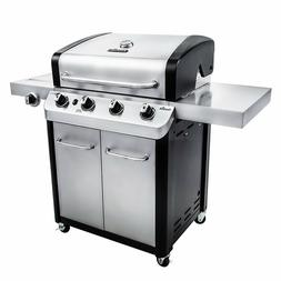Char Broil Signature 4-Burner Cabinet Gas Grill Side Burner