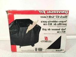 CharBroil Universal Fit 65 Inch Black Grill Cover Nylon Line