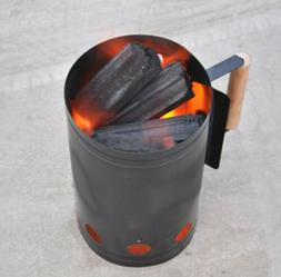 Charcoal Chimney Starter Rapidfire Lighter Grill Cookout BBQ