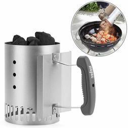 Charcoal Fire Starter Chimney Rapidfire BBQ Grill Ignition L