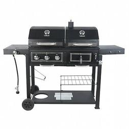 Charcoal Gas Grill Dual Fuel Combination BBQ Outdoor Cooking
