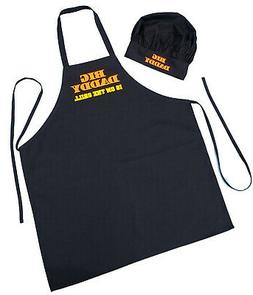 Chef Hat and Apron Set Big Daddy Is On The Grill - BBQ Apron