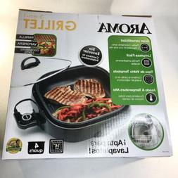 Contact Grills Aroma Housewares 3-in-1 Grillet Indoor Grill,