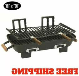 New Hibachi Grill Cast Iron Charcoal Cooking Light Portable
