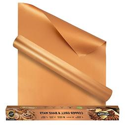 GrillShield Extra Large Copper Grill and Bake Mats Set of 2