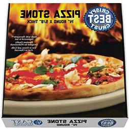 Pizza Stone for Best Crispy Crust Pizza, Only Stoneware with