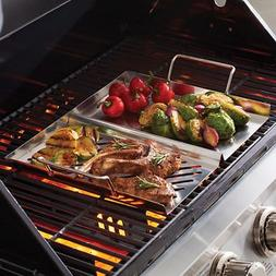 Mr. Bar-B-Q Dual-Sided Stainless Steel Grill Topper