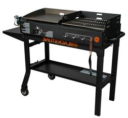 """Blackstone Duo Grill 17"""" Griddle and Charcoal Grill Combo Ba"""