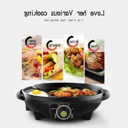 LIVEN Electric Grill with Hot Pot and Non-Stick Coating Surf