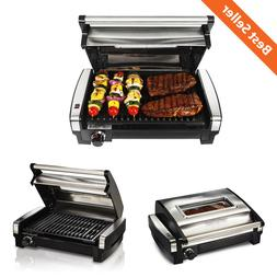 Electric Indoor Outdoor Grill Meat Cooking BBQ Portable Camp
