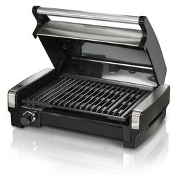Electric Indoor Searing Grill with Removable Plates Less Smo