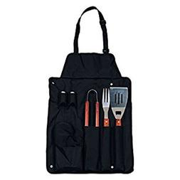 Fine Life BBQ Apron with 7-Piece Utensil Set