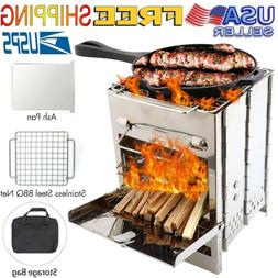 foldable barbecue charcoal grill stove bbq patio