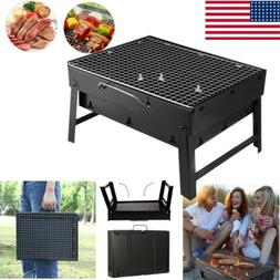 BBQ Barbecue Grill Folding Portable Charcoal Outdoor Camping