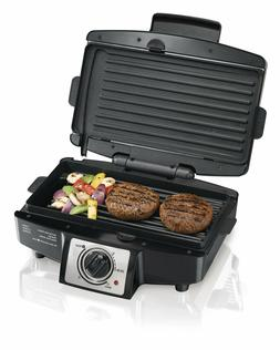 Free Ship Hamilton Beach 4 Burger 110 Grill with Removable G