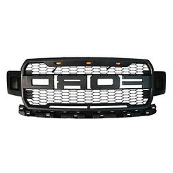 Front Grille Fits 2018-2019 FORD F150 ABS Mattle Raptor Styl
