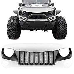 IPARTS Front Grille for Jeep Wrangler 2007-2017 Rubicon Saha