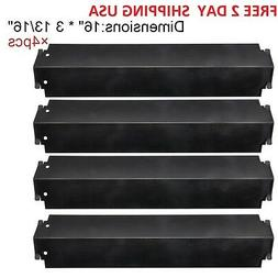 Gas Grill 4 Heat Plates Shield Porcelain Steel BBQ Parts Cha