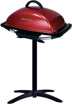 George Foreman GFO201R IndoorOutdoor Electric Grill, Red
