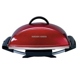 George Foreman GFO201RX IndoorOutdoor Electric Grill, Red