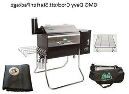 GMG Davy Crockett Pellet Grill BBQ Starter Package, DCWF+PH-