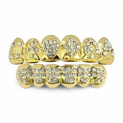 Gold Grillz for Kid 18K Boy Girl Top Bottom Grill Teeth Mout