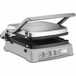 Cuisinart Griddler Deluxe Panini Press Grill Brushed Stanles