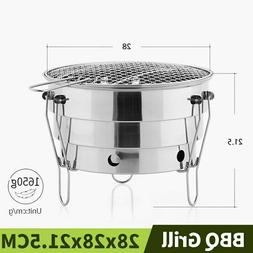 Grill Barbecue BBQ Camping Charcoal Stove Fire Pit Camping A