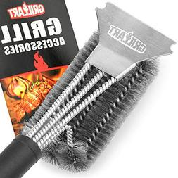 GRILLART Grill Brush and Scraper Best BBQ Brush for Grill, S