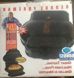 George Foreman Grill Lean Mean Fat Grilling Machine Black