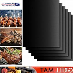 1-6 PCS Grill Mat BBQ Non Stick Reusable Easy to Clean Barbe