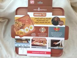 """Copper Chef Grill Pan Griddle Grill frying Non Stick Pan 12"""""""