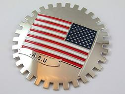 Grille Badge USA FLAG for car truck grill mount American fla