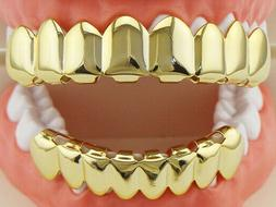 Grillz Teeth Dental Grills 18K Rose Gold/Silver Plated 8 Top