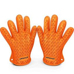 Heat Resistant Silicone Gloves for Cooking Offer Unrivaled Q